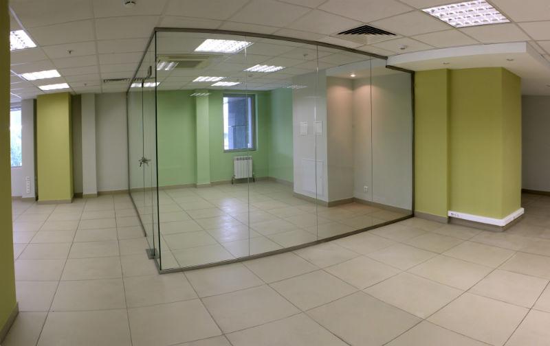 Установка перегородок в офисе